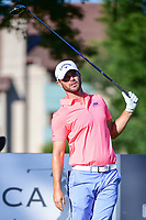 Wesley Bryan (USA) watches his tee shot on 11 during the round 1 of the Dean &amp; Deluca Invitational, at The Colonial, Ft. Worth, Texas, USA. 5/25/2017.<br /> Picture: Golffile | Ken Murray<br /> <br /> <br /> All photo usage must carry mandatory copyright credit (&copy; Golffile | Ken Murray)