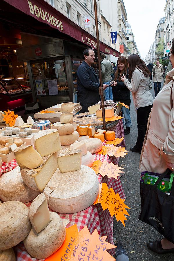 Paris, France Cheese shop in Paris, France