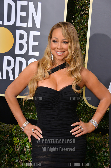 Mariah Carey at the 75th Annual Golden Globe Awards at the Beverly Hilton Hotel, Beverly Hills, USA 07 Jan. 2018<br /> Picture: Paul Smith/Featureflash/SilverHub 0208 004 5359 sales@silverhubmedia.com
