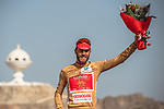 Loic Chetout (FRA) Cofidis wins the overall combativity Gold Jersey after Stage 6 of the 2018 Tour of Oman running 135.5km from Al Mouj Muscat to Matrah Cornich. 18th February 2018.<br /> Picture: ASO/Muscat Municipality/Kare Dehlie Thorstad | Cyclefile<br /> <br /> <br /> All photos usage must carry mandatory copyright credit (&copy; Cyclefile | ASO/Muscat Municipality/Kare Dehlie Thorstad)
