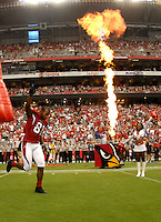 Aug 18, 2007; Glendale, AZ, USA; Arizona Cardinals wide receiver Anquan Boldin (81) against the Houston Texans at University of Phoenix Stadium. Mandatory Credit: Mark J. Rebilas-US PRESSWIRE Copyright © 2007 Mark J. Rebilas