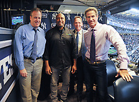 NEW YORK, NY - September 1 : Michael Kay, Bernie Willams, David Cone, Paul O'Neill  at Yankee Stadium in the Bronx,New York during Pulmonary Fibrosis Awareness Month in honor of his father who passed away from the rare lung disease idiopathic pulmonary fibrosis (IPF). September 1, 2017 in New York City.@Bill Menzel / Media Punch
