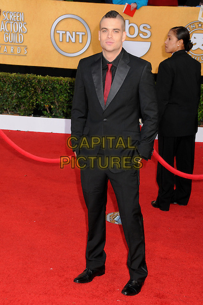 MARK SALLING.17th Annual Screen Actors Guild Awards held at The Shrine Auditorium, Los Angeles, California, USA..January 30th, 2011.arrivals full length black suit red tie hands in pockets  SAG.CAP/ADM/BP.©Byron Purvis/AdMedia/Capital Pictures.
