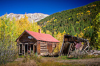 Ironton Ghost Town, Ironton was a town in Ouray County, Colorado, United States. It lay south of the present town of Ouray.<br /> <br /> Ironton (aka Copper Glen) was built on flatter ground than surrounding towns. Settled in 1893, within three weeks three hundred buildings were being built. It was a staging area for supplies coming from Ouray. Ironton was a major transportation junction between Red Mountain Town and Ouray in addition to having some of its own mines. Ironton had a peak population of over 1000 and had two trains arriving daily from Silverton. There were many chain stores from the nearby cities of Ouray and Silverton. The town lived into the first part of the 20th century but slowly faded as mining operations declined.  The final resident of the town, Milton Larson, died in the mid-1960s.  The town site is still occasionally visited by tourists.