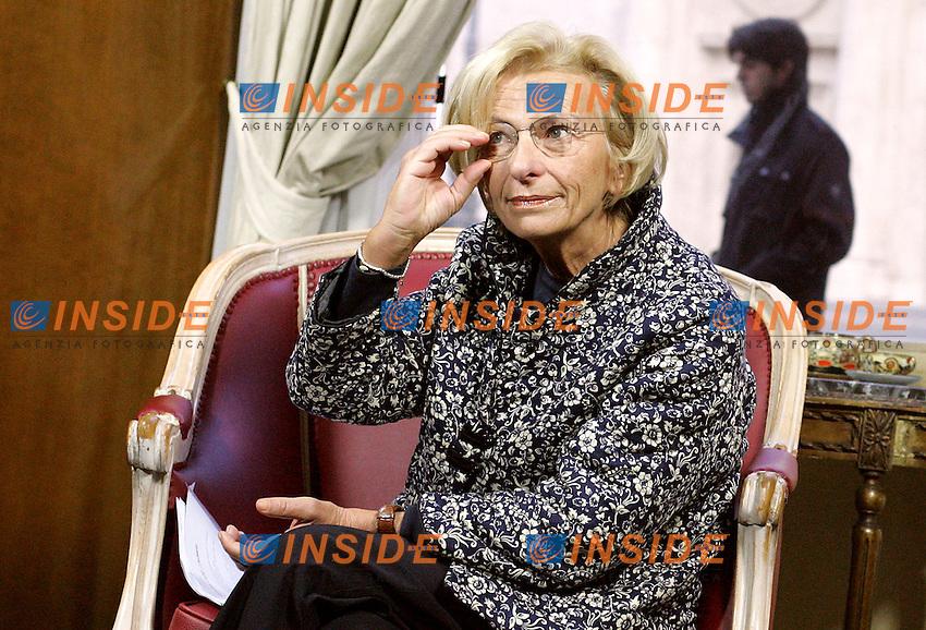 Roma 15/01/2010 Emma Bonino ad &quot;Un caffe' con l'onorevole&quot;.<br /> Emma Bonino, candidate of Democratic Party for the Lazio Region elections that will take place in March.<br /> Photo Samantha Zucchi Insidefoto