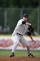 July 8 2009: Josh Hungerman of the Tri City Dust Devils pitches against the Salem-Kaizer Volcanoes at Volcano  Stadium in Kaizer,OR.  Photo by Larry Goren/Four Seam Images