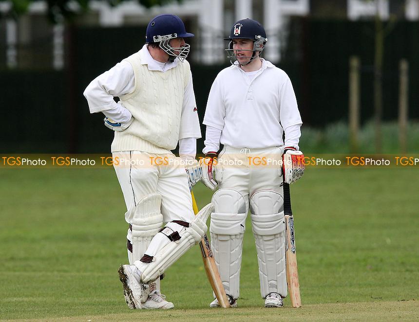 K Thain (L) and A Murray of Havering - Boreham CC vs Havering-atte-Bower CC - Mid-Essex Cricket League - 08/05/10 - MANDATORY CREDIT: Gavin Ellis/TGSPHOTO - Self billing applies where appropriate - Tel: 0845 094 6026