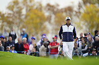 Justin Thomas (Team USA) during the friday fourballs at the Ryder Cup, Le Golf National, Iles-de-France, France. 27/09/2018.<br /> Picture Fran Caffrey / Golffile.ie<br /> <br /> All photo usage must carry mandatory copyright credit (© Golffile | Fran Caffrey)