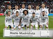 18th March 2018, Santiago Bernabeu, Madrid, Spain; La Liga football, Real Madrid versus Girona; Real Madrid team Line-up