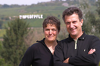 DO NOT LICENSE, DO NOT USE - Eric Rominger and his wife owner zinnkoepfle in back dom e rominger westhalten alsace france