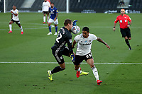30th July 2020; Craven Cottage, London, England; English Championship Football Playoff Semi Final Second Leg, Fulham versus Cardiff City; Alex Smithies of Cardiff City blocks Anthony Knockaert of Fulham flick as he is through on goal