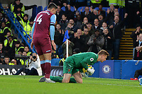 David Martin of West Ham United makes a great double save  during Chelsea vs West Ham United, Premier League Football at Stamford Bridge on 30th November 2019