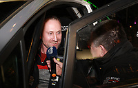 1st February 2020; Galway, Galway, Ireland; Irish Tarmac Rally Championship, Galway International Rally;  Declan McCrory enjoys a joke at the start of the 2020 Galway International Rally at the team introductions