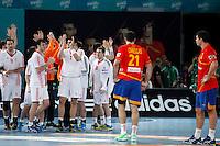 Spain and Croatia during 23rd Men's Handball World Championship preliminary round match. January 19 ,2013. (ALTERPHOTOS/Caro Marin) /NortePhoto