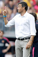 FC Barcellona's coach Luis Enrique Martinez during La Liga match.September 13,2014. (ALTERPHOTOS/Acero) <br /> Football Calcio 2014/2015<br /> La Liga Spagna<br /> Foto Alterphotos / Insidefoto
