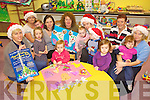 SANTA CLAUSE IS COMING: Staff and children at the Ti?r na n-O?g childcare centre in Ballybunion who are organising a Christmas party at the centre, including staff members l-r: Gra?inne Twomey, Rosarie O'Connor, Lyndsey O'Connor, Nora O'Carroll Downey, Francesca Dowling, Belinda Sargeant, Maggie Sheehy.
