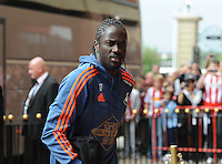 Eder of Swansea City arrives at the Stadium of Light before kick off during the Barclays Premier League match between Sunderland and Swansea City played at Stadium of Light, Sunderland