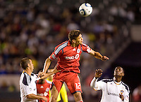 Toronto FC defender Adrian Cann (12) clears a ball from the box. The LA Galaxy and Toronto FC played to a 0-0 draw at Home Depot Center stadium in Carson, California on Saturday May 15, 2010.  .