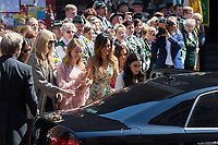 Mariage du Prince Ernst junior de Hanovre et de Ekaterina Malysheva &agrave; l'&eacute;glise Markkirche &agrave; Hanovre.<br /> Allemagne, Hanovre, 8 juillet 2017.<br /> Wedding of Prince Ernst Junior of Hanover and Ekaterina Malysheva at the Markkirche church in Hanover.<br /> Germany, Hanover, 8 july 2017<br /> Pic :  Alexandra of Hanover &amp; bride Ekaterina Malysheva