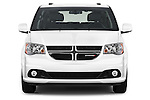 Car photography straight front view of a 2018 Dodge Grand-Caravan SXT 5 Door Minivan Front View
