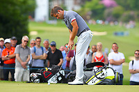 Robert Rock on the 2nd green during the BMW PGA Golf Championship at Wentworth Golf Course, Wentworth Drive, Virginia Water, England on 25 May 2017. Photo by Steve McCarthy/PRiME Media Images.