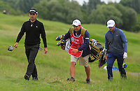 Fabrizio Zanotti (PAR) and Lucas Bjerregaard (DEN) walk to the 3rd tee during Round 2 of the 100th Open de France, played at Le Golf National, Guyancourt, Paris, France. 01/07/2016. <br /> Picture: Thos Caffrey | Golffile<br /> <br /> All photos usage must carry mandatory copyright credit   (&copy; Golffile | Thos Caffrey)