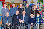 John Sullivan general manager of Lee Strand/Brownes presents Neilie Warren Gneeveguilla the winning prive of €2,000 voucher for Brownes hardware Castleisland in the store on Friday front row l-r: Vincent Murphy, John Sullivan, Neilie and Shane Warren. Back row: Thomas Lawlor 5th prize, Con Curtin 4th prize both Castleisland, PJ McAulliffe Brownes Hardware, Timmy Mahony 3rd prize (two tons of Coal) and Anna and Alex Ahern receiving the 2nd prive of a €1500 voucher for Kieran Ahern Ballymac