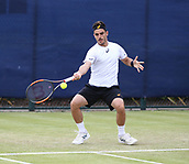 June 16th 2017, Nottingham, England; ATP Aegon Nottingham Open Tennis Tournament day 5;  Thomas Fabbiano of Italy wins his quarter final against Sergiy Stakhovsky of Ukraine by two sets to one; Fabbiano won 4-6, 6-2, 7-6(5)