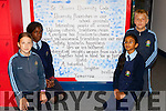 St Olivers pupils Anielka Palusinska, Usher Titus, Max Orups and Swad Masud who made a Diversity code for  their school for the Schools Diversity/Inclusion project