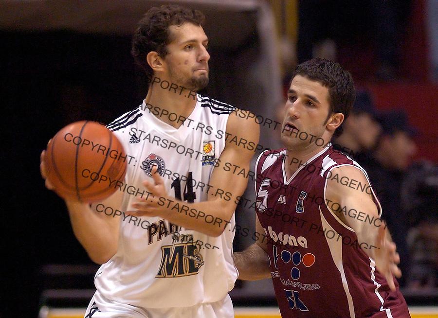 kosarka, good year league.PARTIZAN-BOSNA (SARAJEVO).VULE AVDALOVIC.BGD, 16.10.2004..FOTO: SRDJAN STEVANOVIC