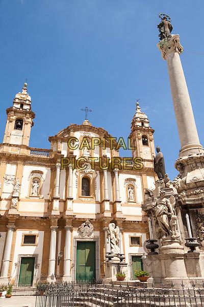 San Domenico Church, Piazza San Domenico, Palermo, Sicily, Italy<br /> August 2015<br /> CAP/MEL<br /> &copy;MEL/Capital Pictures