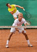August 17, 2014, Netherlands, Raalte, TV Ramele, Tennis, National Championships, NRTK, Mens Doubles Final : Kevin Benning/Yannick Zenden (NED)<br /> Photo: Tennisimages/Henk Koster