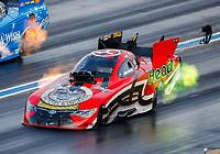Jul 22, 2017; Morrison, CO, USA; NHRA funny car driver Jonnie Lindberg during qualifying for the Mile High Nationals at Bandimere Speedway. Mandatory Credit: Mark J. Rebilas-USA TODAY Sports