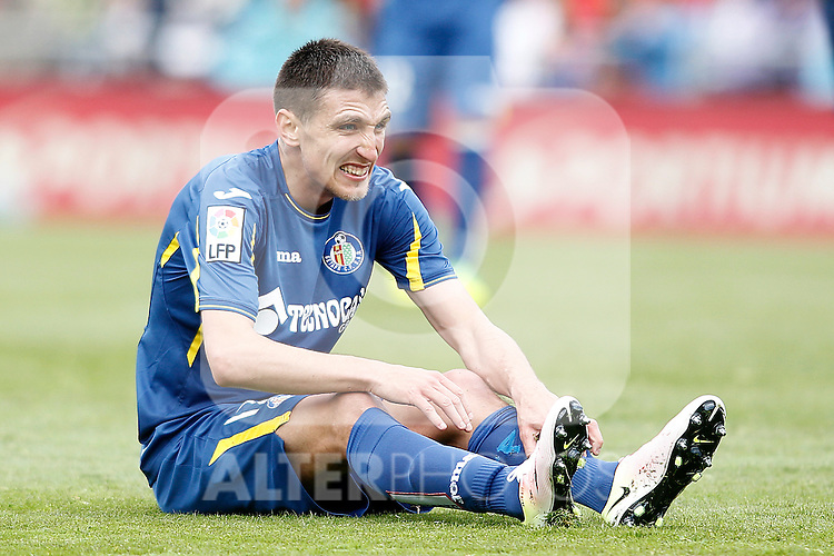 Getafe's Stefan Scepovic during La Liga match. April 16,2016. (ALTERPHOTOS/Acero)
