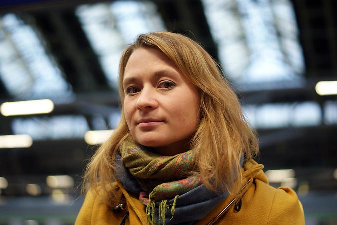 Anna Alboth stammt aus Warschau wohnt aber jetzt in Berlin.  Organisatoren des Marsches nach Aleppo, der am 25.12. beginnen soll.