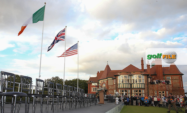 The Closing Ceremony at The Walker Cup 2015 played at Royal Lytham and St Anne's, Lytham St Anne's, Lancashire, England. 13/09/2015. Picture: Golffile | David Lloyd<br /> <br /> All photos usage must carry mandatory copyright credit (&copy; Golffile | David Lloyd)