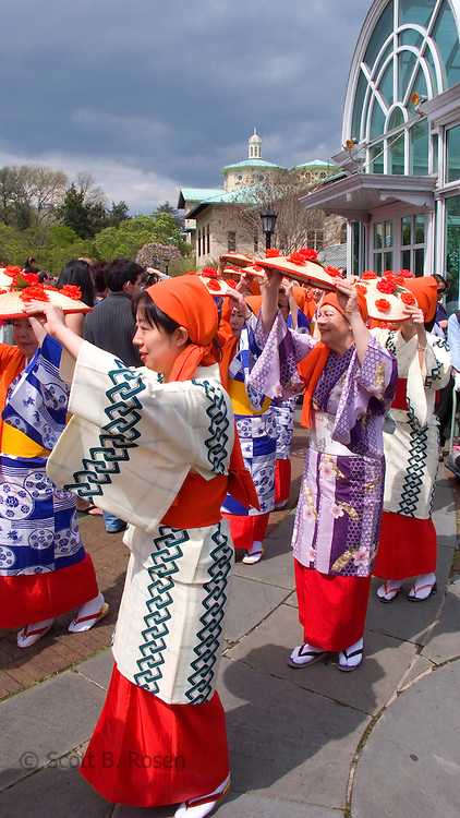 Hanagasa Odori Flower Hat Dance Parade at the 2007 Cherry Blossom Festival, Brooklyn Botanical Gardens, New York