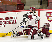 Michelle Picard (Harvard - 20), Andie Anastos (BC - 23) - The visiting Boston College Eagles defeated the Harvard University Crimson 2-0 on Tuesday, January 19, 2016, at Bright-Landry Hockey Center in Boston, Massachusetts.