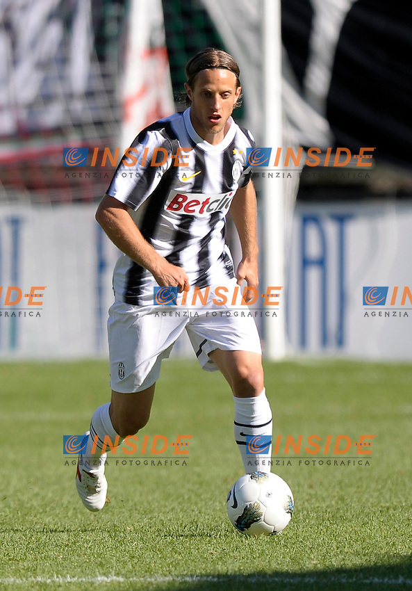 Reto Ziegler (Juventus).Juventus Selezione Valsusa - Amichevole durante il ritiro della Juventus.Bardonecchia (TO), 15/07/2011.© Giorgio Perottino / Insidefoto