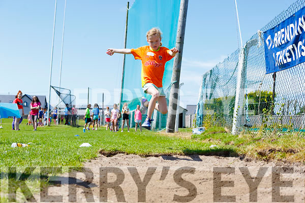 Louise Lane from the St Brendans AC doing the long jump at the St. Brendan's A.C. Open Sports Day in Ardfert on Monday.