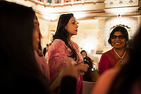 Princess Diya Kumari of Jaipur shares a conversation with a group of women at the OzFest Gala Dinner in the Jaipur City Palace, in Rajasthan, India on 10 January 2013. Photo by Suzanne Lee