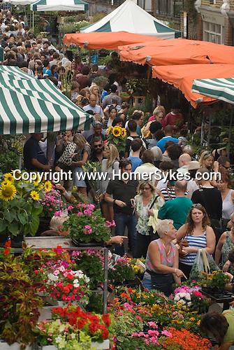 Columbia Road Flower Market Hackney East End London UK.
