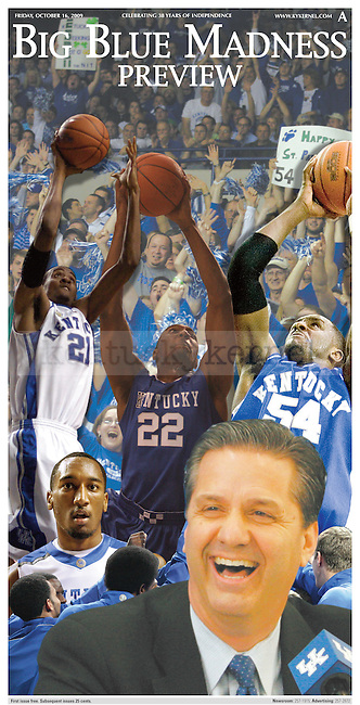 Purchase an 11 x 23 Glossy poster of the Kentucky Kernel's Big Blue Madness poster which was originally published on October 16, 2009 for the Kernel's Madness preview section.