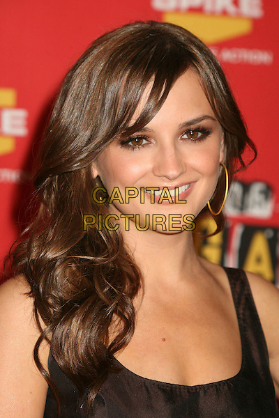 RACHAEL LEIGH COOK.Spike TV's 2006 Video Game Awards at the Galen Center - Press Room, Los Angeles, California, USA..December 8th, 2006.headshot portrait .CAP/ADM/BP.©Byron Purvis/AdMedia/Capital Pictures