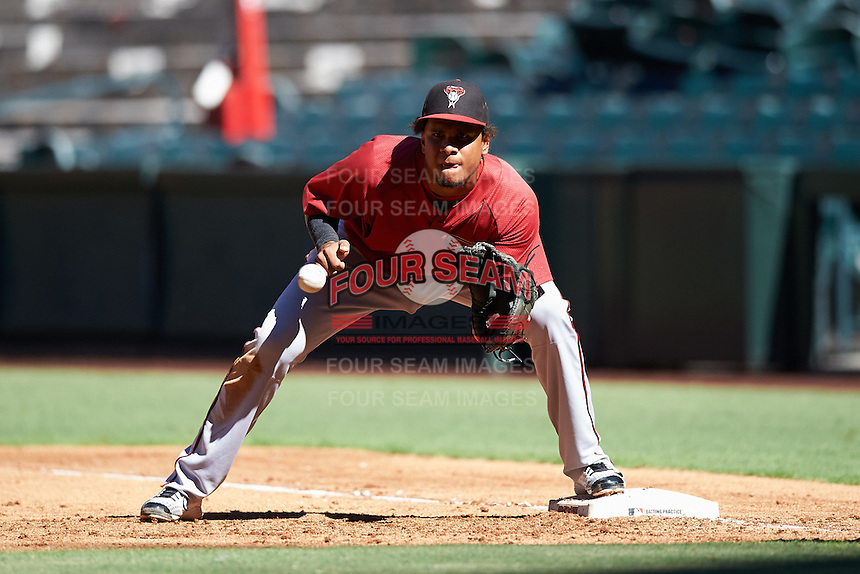 Arizona Diamondbacks Ramon Hernandez (22) during an Instructional League game against the Oakland Athletics on October 15, 2016 at Chase Field in Phoenix, Arizona.  (Mike Janes/Four Seam Images)