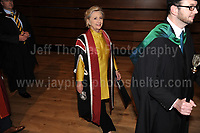 Swansea University, South Wales, UK, Saturday 14th Oct 2017 - <br /> <br /> Hillary Rodham Clinton was today in attendance at Swansea University, where she received an Honorary Doctorate of Laws.<br /> <br /> Hillary Clinton enters the Great Hall to begin the ceremony.<br /> <br /> <br /> Jeff Thomas Photography -  www.jaypics.photoshelter.com - <br /> e-mail swansea1001@hotmail.co.uk -<br /> Mob: 07837 386244 -