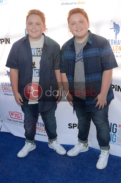 Benjamin Royer, Matthew Royer<br /> at Clayton Kershaw's Ping Pong 4 Purpose Celebrity Tournament to Benefit Kershaw's Challenge, Dodger Stadium, Los Angeles, CA 08-11-16<br /> David Edwards/DailyCeleb.com 818-249-4998