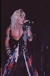 Vince Neil of Motley Crue Jan 1984 at New Haven Coliseum.