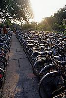 Bicycle parking lot, Saigon, Ho Chi Minh, Vietnam