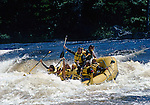 Whitewater rafting on the West Branch of the Penobscot River, Piscataquis County, Maine, USA